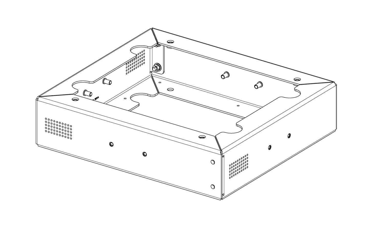"FieldSmart Fiber Cabinet 288 PON 4"" Riser Kit"