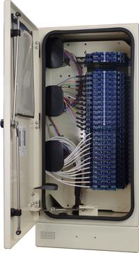 Rear Fiber Cabinet 288 Port with Clearview Blue