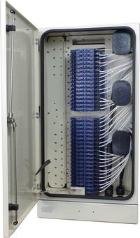 Rear Fiber Cabinet 432 Port with Clearview Blue