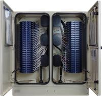 Rear Fiber Cabinet 576 Port with Clearview Blue
