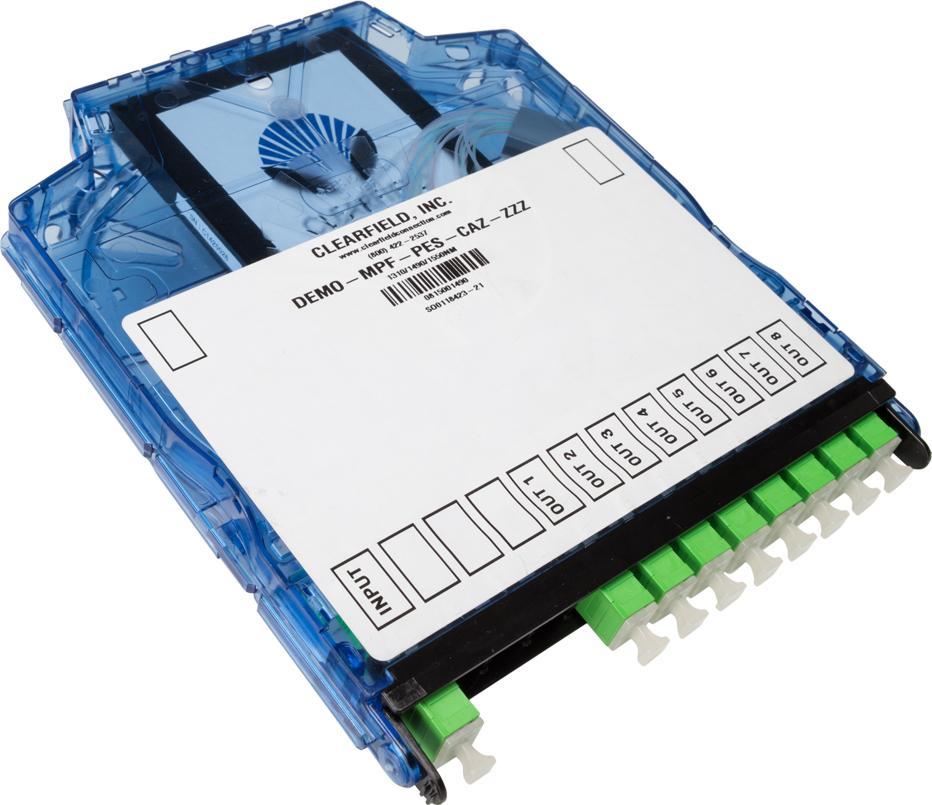 Clearview Blue Cassette With Configuration Label & Danger Label