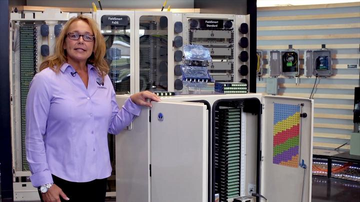 Image of women standing next to a Clearview cabinet