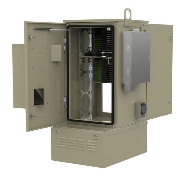 FieldSmart FiberFlex 2000 Cabinet With Door Open