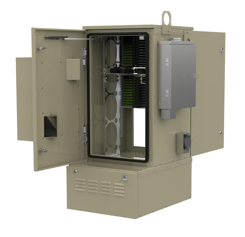 FieldSmart FiberFlex 2000 Cabinet With Door Open