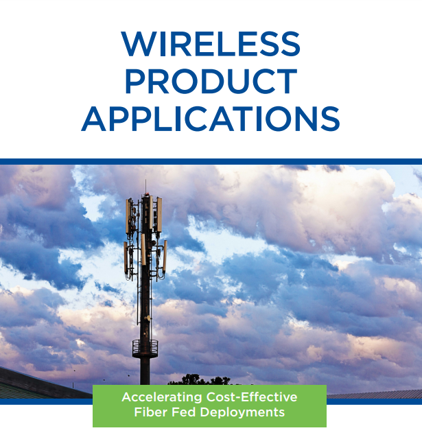 Image of a cell tower representing Wireless Product Application Examples from Clearfield
