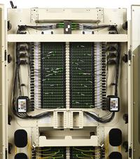 Close up, Inside Shot of FieldSmart Fiber Crossover Distribution System (FxDS) Frame Kit.