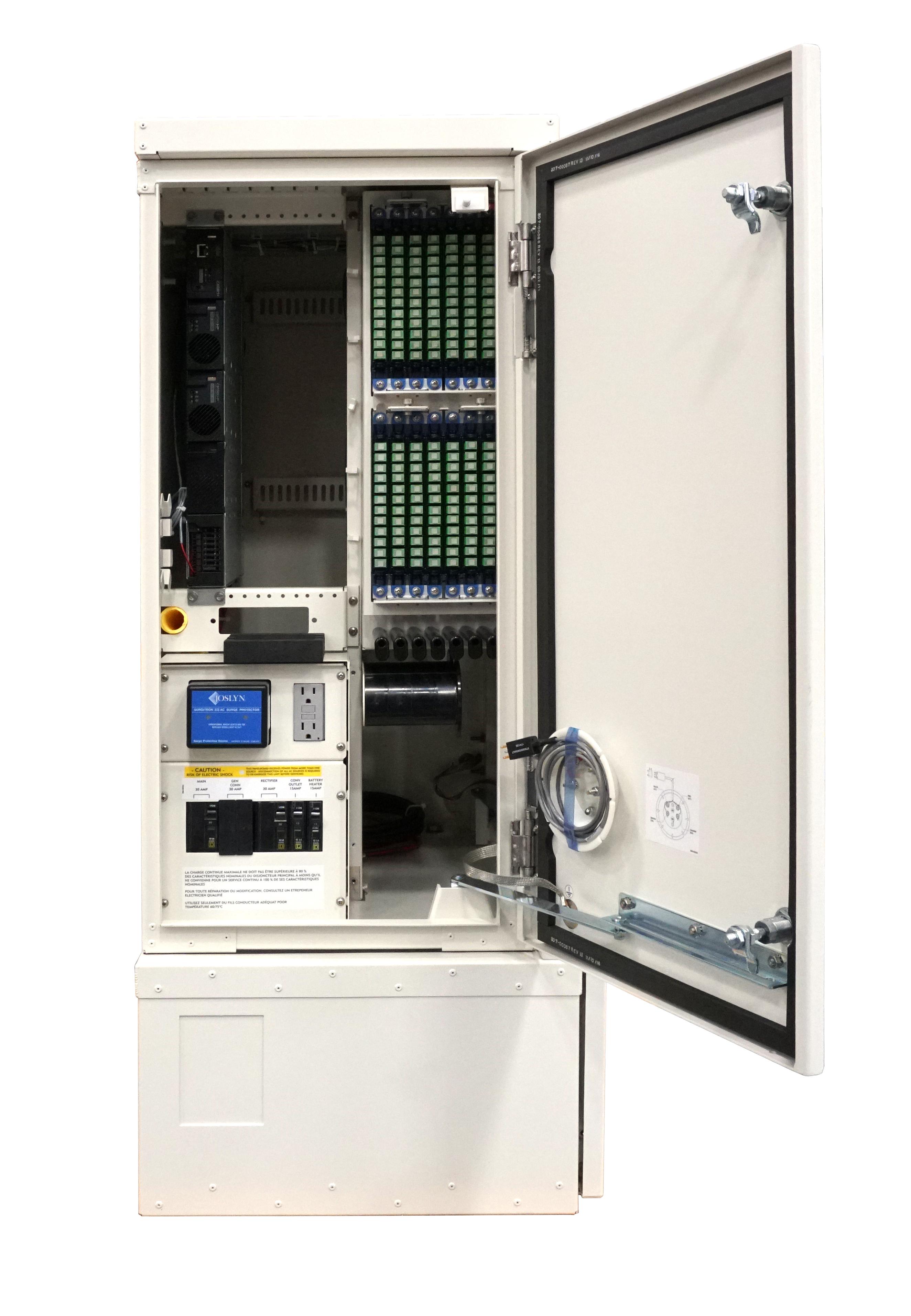 FieldSmart Fiber Active Cabinet 400 With Door Open