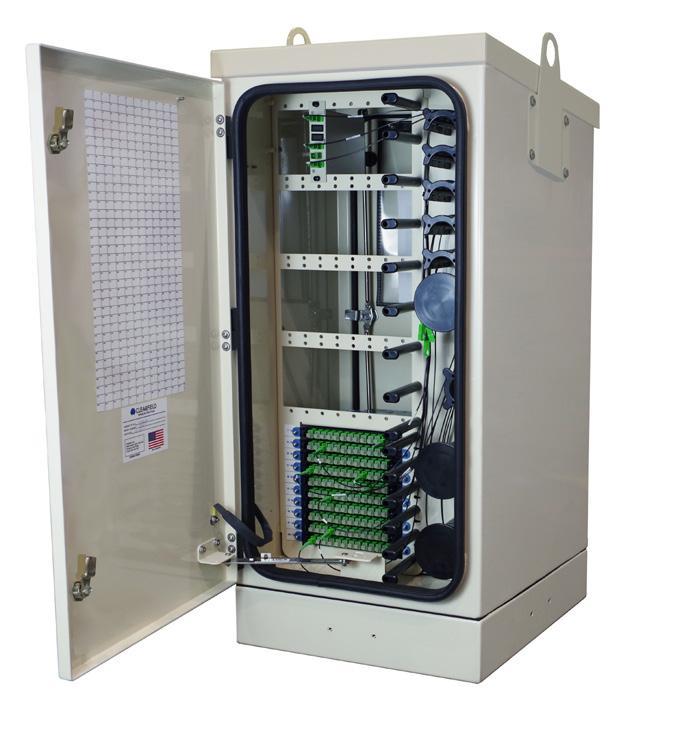 FieldSmart Fiber Collapse Cabinet With Door Open