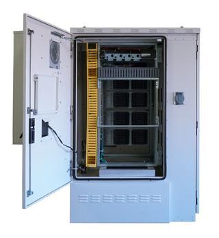 Front View of FieldSmart Fiber Active Cabinet 5400 With Door Open