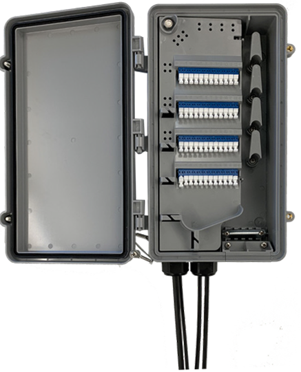 StreetSmart Fiber Hand-Off Box With Hinged Plate Closed