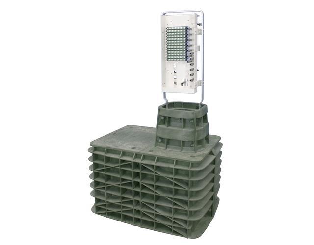 FieldSmart Fiber Delivery Point (FDP) 96-Port PON Pedestal Insert Kit/Vault Mount