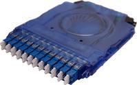 CS Connector, Fiber Cassettes, Clearview Blue