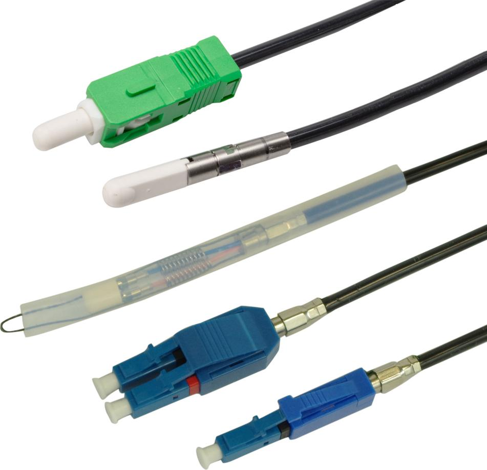 FieldShield SC and LC Pushable Fiber Connectors