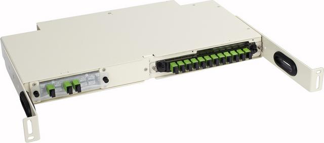 FieldSmart Small Count Delivery (SCD) 1RU Rack Mount/Cabinet Mount Panel